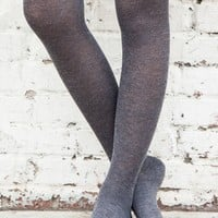 KNEE HIGH GREY SOCKS