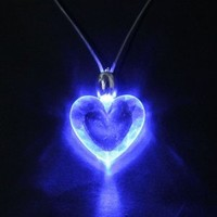 Multi-Shaped Pattern LED Blue Magnetic Light Lamp Charm Pendant Necklace Party Disco Kid Children Xmas Birthday Gift