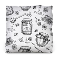 Honey Bee Sweet Throw Pillow