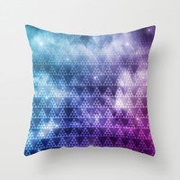 Galaxy Fade Throw Pillow by Digi Treats 2 | Society6