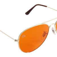 Orange Lens / Aviator Frame