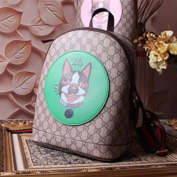 Gucci Women's Leather Embroidery Backpack Bag #31821 - Best Deal Online