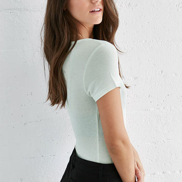 Me To We Ribbed Plunge Neck T-Shirt at PacSun.com