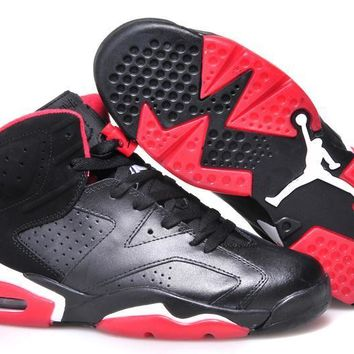 Air Jordan 6 Black/Pink Sport Basketball Shoe