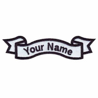 """Custom name 5"""" wide*1.5"""" high black patch felt applique iron on patches"""