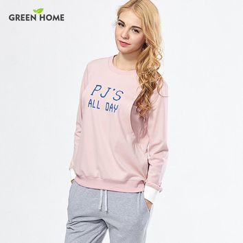 2 Piece 'PJs All day' Nursing Pajama Set