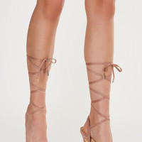 Head Over Heels Lace Up Pumps