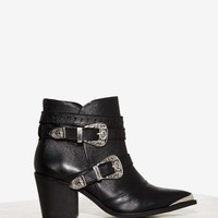 Nasty Gal Double Down Leather Ankle Boot