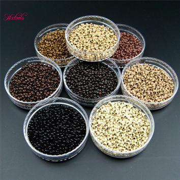Nano Cooper Micro Rings Beads 2.5mm 1000Units  Human Hair Nano Micro beads Ring For Nano TIp Hair Extension 8 Color Options
