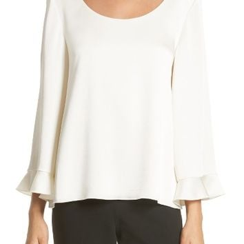 Elizabeth and James Karlotta Ruffle Sleeve Blouse | Nordstrom