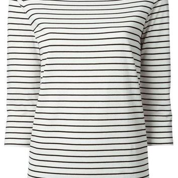 ICIKIN3 Gucci horizontal stripe T-shirt