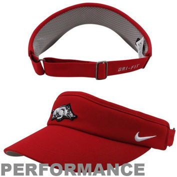 Nike Arkansas Razorbacks Sideline Dri-FIT Adjustable Performance Visor -  Cardinal