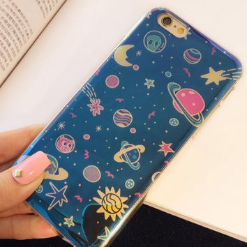 Space laser phone case for iphone 6 6s 6 plus 6s plus + Nice gift box 080902