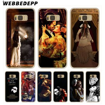 WEBBEDEPP The Phantom of the Opera Hard Transparent Phone Case for Galaxy S6 S7 Edge S9 S8 Plus S5 S4 S3 Cover