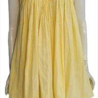 Yellow Mexican Cotton Mini Tent Dress