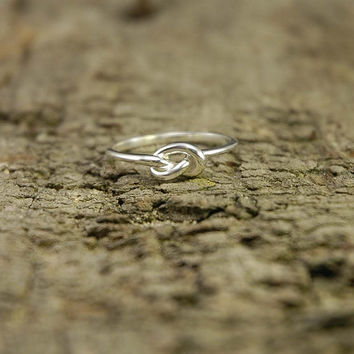 925 sterling silver open knot ring