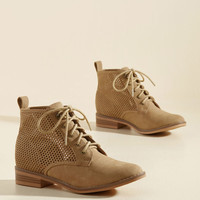 Have a Good Skip! Bootie in Tan Cutouts