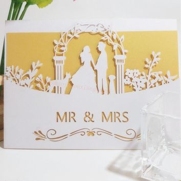 3D Wedding Invitations Greeting Cards