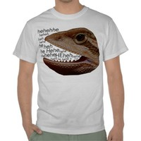 lizard laughing shirt from Zazzle.com