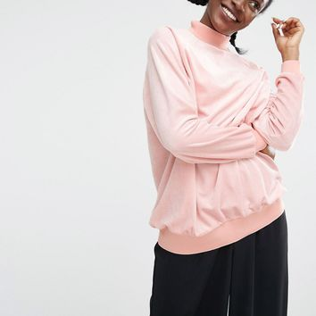 Monki EXCLUSIVE Velvet Oversized Jumper