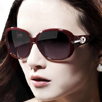 Cut Out and Printed Hinge Alloy Inlay Sunglasses