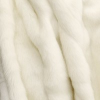 "Faux Fur Throw Blanket 60"" x 86"" - White Mink"