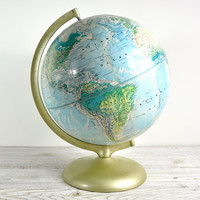 Vintage 1970's Rand McNally World Globe