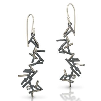 ALL NEW Astro Pick Up Sticks Earrings With Cubic Zirconia