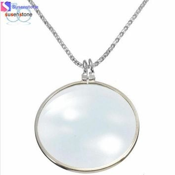 Magnifier Pendant Necklaces for Women