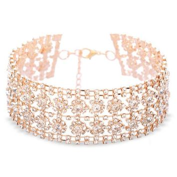 ONETOW The new fashion accessories necklace with a multi-layer diamond neck chain