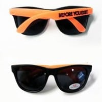 Before You Exit Shades (Orange Frames)