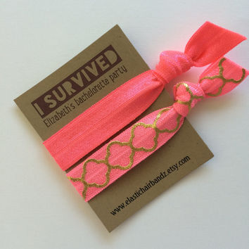 Custom Bachelorette Party Favors - Gifts - Neon Passionfruit - I Survived