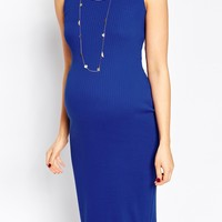 New Look Maternity Ribbed Midi Dress