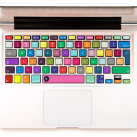 Urban Color - Decal Keyboard Sticker for Macbook Mac Lenovo Asus Sony Dell HP Acer Samsung Toshiba Rainbow Colorful Gradient Blue Violet