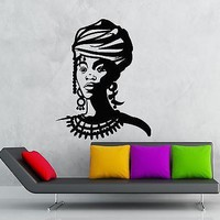 Wall Sticker Vinyl Decal Black Lady Africa Beautiful Girl Unique Gift (ig1201)