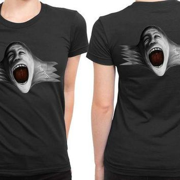 DCCKL83 Pink Floyd Scream Face Blow Up 2 Sided Womens T Shirt