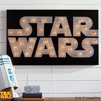 Star Wars™ Marquee Wall Art | Pottery Barn Kids
