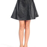 Tractr Quilted Pleather Skirt