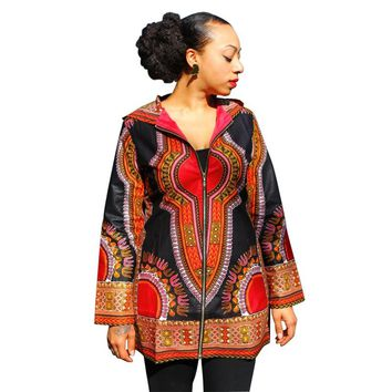 Fall Women Basic Coats Dashiki Plus Size Slim Traditional African Clothing Chaquetas Mujer Duster Coats And Jackets CP1623
