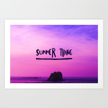 Summer Thing Art Print by ArtEscape