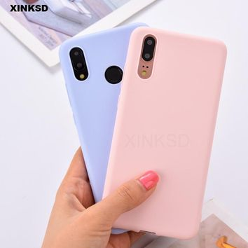 Candy Color Silicone Case On For Huawei P20 P10 P9 P8 Mate 10 9 lite Pro P Smart Plus Nova 3i 3 Cases Phone Back Matte Cover T20