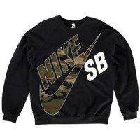 Nike SB T&T Camo Crew Sweatshirt - Men's at CCS
