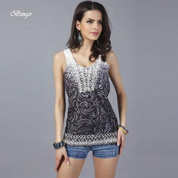 CREYHY3 Women summer tops 2016 European & American free size vest female Fashion embroidered vest embroidered sleeveless tanks & camis