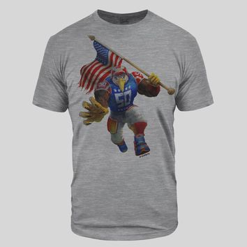USA Eagle Heather Gray Tri-Blend T-Shirt