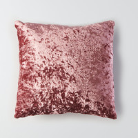 AEO APT Crushed Velvet Pillow, Pink