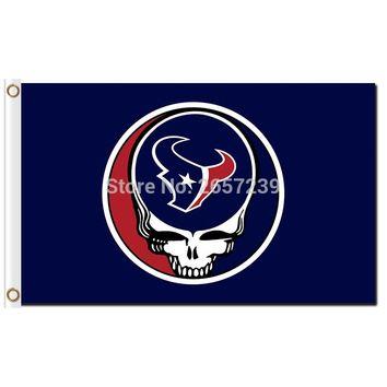 Houston Texans Stealing Your Face Flag 3x5FT NFL banner 100D 150X90CM Polyester brass grommets custom66,free shipping