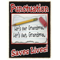 Funny Let's Eat Grandma Punctuation Teacher Gift Refrigerator Magnet
