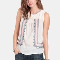 Hit List Embroidered Blouse