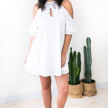 Love on Repeat Detailed White Dress