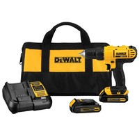 DEWALT 20-Volt MAX Lithium-Ion Cordless 1/2 in. Drill/Driver Kit with (2) Batteries 1.3Ah, Charger and Contractor Bag-DCD771C2 - The Home Depot